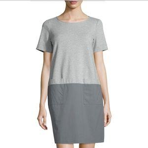 ■Lafayette 148■ (M) Colorblock Pocket Shift Dress